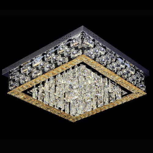 LED light Crystal LED Squarer Flush