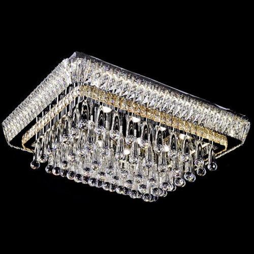 LED Rectangle LED Crystal Chandeliers
